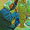 Woman Artisan At Mosaic School In Madaba In Jordan  by Ruth Hager