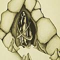 Woman Leaving Cave by Daniel P Cronin