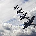 World War Two British Vintage Flight Formation by Matthew Gibson