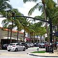 Worth Ave Palm Beach Fl Facing West by Robert Birkenes