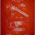 Wrench Patent Drawing From 1896 by Aged Pixel