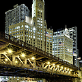 Wrigley Building At Night by Sebastian Musial