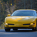 Yellow Corvette by Mike Martin