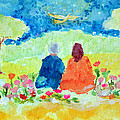 Yogananda And Swami Kriyananda by Ashleigh Dyan Bayer
