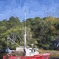 York Harbor Maine Painterly Effect by Carol Leigh