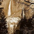 Yosemite Chapel And Falls by Jeff Lowe