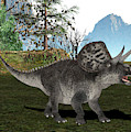 Zuniceratops Dinosaur by Friedrich Saurer