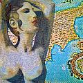 Ancient Cyprus Map And Aphrodite by Augusta Stylianou