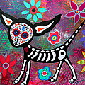 Chihuahua Dia De Los Muertos by Pristine Cartera Turkus