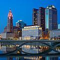 Fx2l-516 Columbus Ohio Night Skyline Photo by Ohio Stock Photography