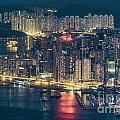 Hong Kong At Night by Tuimages