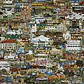 100 Painting Collage by Jennifer Lake