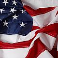 American Flag 34 by Les Cunliffe