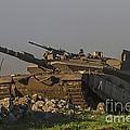 An Israel Defense Force Merkava Mark Iv by Ofer Zidon