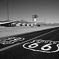 Route 66 Shield 2012 Bw #2 by Frank Romeo