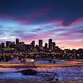 Usa, Colorado, Denver, City View by Walter Bibikow