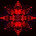 1107 - Mandala Red   by Irmgard Schoendorf Welch