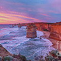 12 Apostles At Sunset Pano by Ray Warren