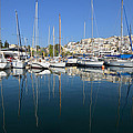 Reflections In Mikrolimano Port by George Atsametakis
