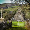 12th Century Cross And Church In Ireland by James Truett