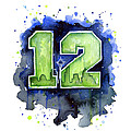 12th Man Seahawks Art Seattle Go Hawks by Olga Shvartsur