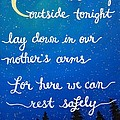 12x16 Dmb So Let Us Sleep Outside Tonight by Michelle Eshleman