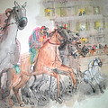 Italian Il Palio Horse Race Album by Debbi Saccomanno Chan