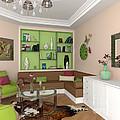 My Art In The Interior Decoration - Elena Yakubovich by Elena Yakubovich