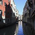 Narrow Canal Venice Italy by Julia Gavin
