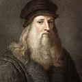 1490 Leonardo Da Vinci Colour Portrait by Paul D Stewart