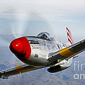 A P-51d Mustang In Flight by Scott Germain