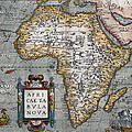 1584 Map Of Mysterious Africa by Daniel Hagerman