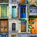 16 Doors In France Collage by Georgia Fowler