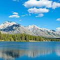 Lake With Mountains In The Background by Panoramic Images