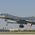 Turkish Air Force F-16 During Exercise by Giovanni Colla