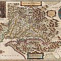 1630 Hondius Map Of Virginia And The Chesapeake by Paul Fearn