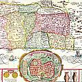 1632 Tirinus Map Of The Holy Land Israel W Numerous Insetsgeographicus Holyland Tirinus 1632 by MotionAge Designs