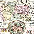 1632 Tirinus Map Of The Holy Land by Paul Fearn