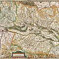 1644 Jansson Map Of Alsace Basel And Strasbourg Geographicus Alsatiasuperior Jansson 1644 by MotionAge Designs