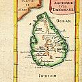 1686 Mallet Map Of Ceylon Or Sri Lanka Taprobane Geographicus Taprobane Mallet 1686 by MotionAge Designs