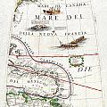 1688 Coronelli Globe Gore Map Of Ne North America The West Indies And Ne South America Geographicus  by MotionAge Designs