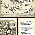 1688 Hennepin First Book And Map Of North America First Printed Map To Name Louisiana Geographicus N by MotionAge Designs