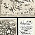 1688 Hennepin First Book And Map Of North America by Paul Fearn