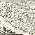 1690 Coronelli Map Of Montenegro by Paul Fearn