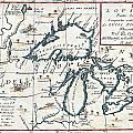 1696 Coronelli Map Of The Great Lakes Most Accurate Map Of The Great Lakes In The 17th Century Geogr by MotionAge Designs