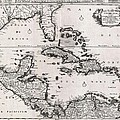 1696 Danckerts Map Of Florida The West Indies And The Caribbean Geographicus Westindies Dankerts 169 by MotionAge Designs
