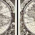 1696 Zahn Map Of The World In Two Hemispheres Geographicus World Zahn 1696 by MotionAge Designs