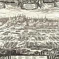 1697 Pufendorf View Of Krakow Cracow Poland by Paul Fearn