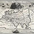 1700 Cellarius Map Of Asia Europe And Africa According To Strabo by Paul Fearn