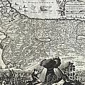 1702 Visscher Stoopendaal Map Of Israel by Paul Fearn